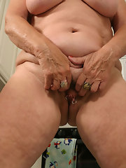 Mature hairy pierced pussy God! Well